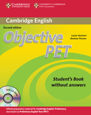 Учебник Objective PET за изпит Cambridge PET