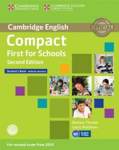 Учебник First for schools за изпит Cambridge FCE