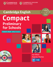 Учебник Cambridge PET for schools